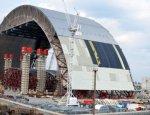 Строительство чернобыльского саркофага  подходит к завершению