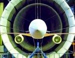 Новейший самолет МС-21 в аэродинамической трубе