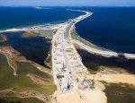 В Крыму началось сооружение автомобильных подходов к Керченскому мосту