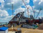 Арка Керченского моста: опубликованы свежие кадры хода строительства