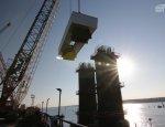 Фарватерные опоры Крымского моста набрали проектную высоту