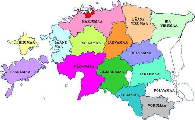 Разделить Эстонию на две части